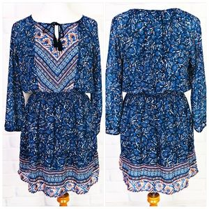 Lucky Brand Woodblock Peasent Dress